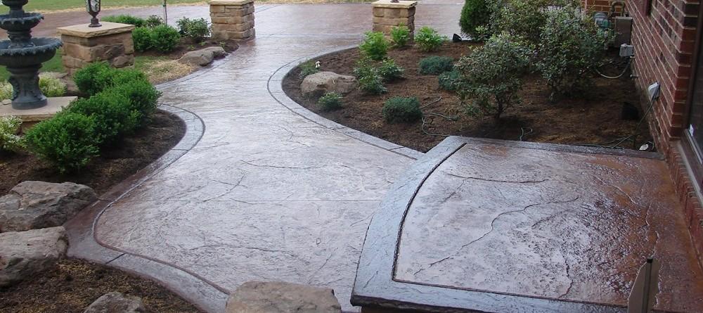 Hormig n impreso pavimento decorativo reformark for Pavimentos para jardines exteriores