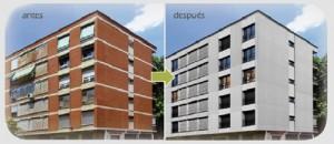 Rehabilitación enérgetica de edificios antes despues