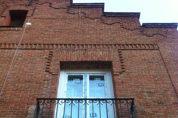 Ventanas en edificio antiguo